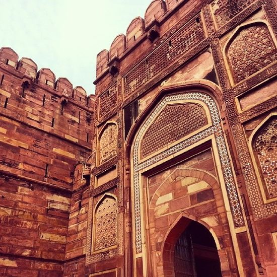 Agra Fort IndiaTrip Throwback red stone architecture design historical buildings