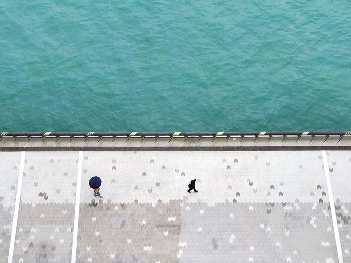 Keep walking.... Harbourside Footpath Street Photography Travel Hong Kong Avenue Of Stars Day Water High Angle View Architecture Outdoors Directly Above Built Structure The Mobile Photographer - 2019 EyeEm Awards The Minimalist - 2019 EyeEm Awards The Street Photographer - 2019 EyeEm Awards My Best Photo