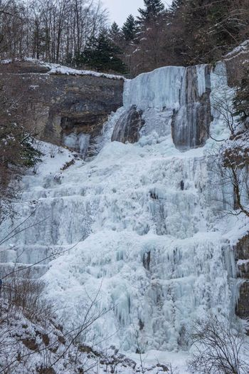 Winter Cold Temperature Nature Snow Beauty In Nature Jura Franchecomte Cascade Tourism Cascadeduherisson