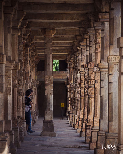 Architecture Built Structure Building Exterior Narrow History Architectural Column Person Day Outdoors The Way Forward Historic Long Delhi Delhidiaries QutubMinar India Indiapictures Nikon Ihithro
