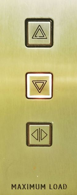 Push The Lift Button // Push Press Buttons Elevator Lift Up And Down Eluminated Bright Light 3 Buttons
