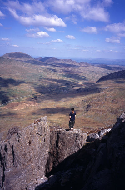 taking in the mountain view, snowdonia national park, UK Britain Climb Climber Clouds Hike Landscape Mountain Mountain Range Mountaineering Mountains North Wales Sky Snodonia Snowdonia Uk View Wales Walk Walker