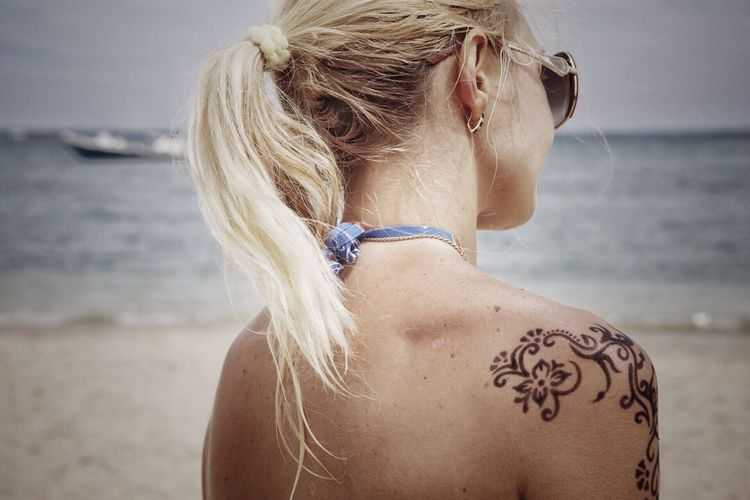 Sea me soon Found On The Roll Summer Holidays Shoulders Henna Tattoo Seascape Beach Vacation