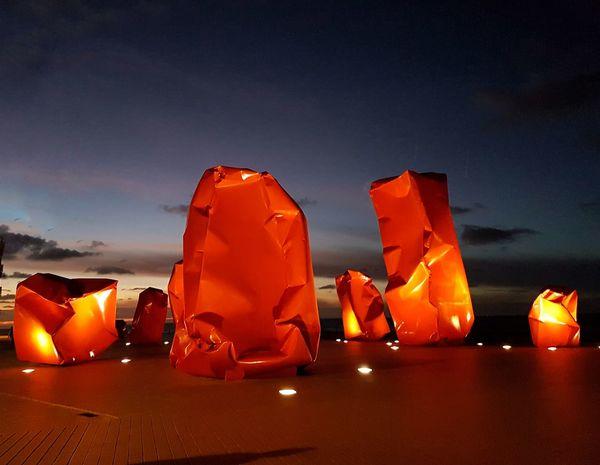 Red Ostend Ostende Belgium Sculpture