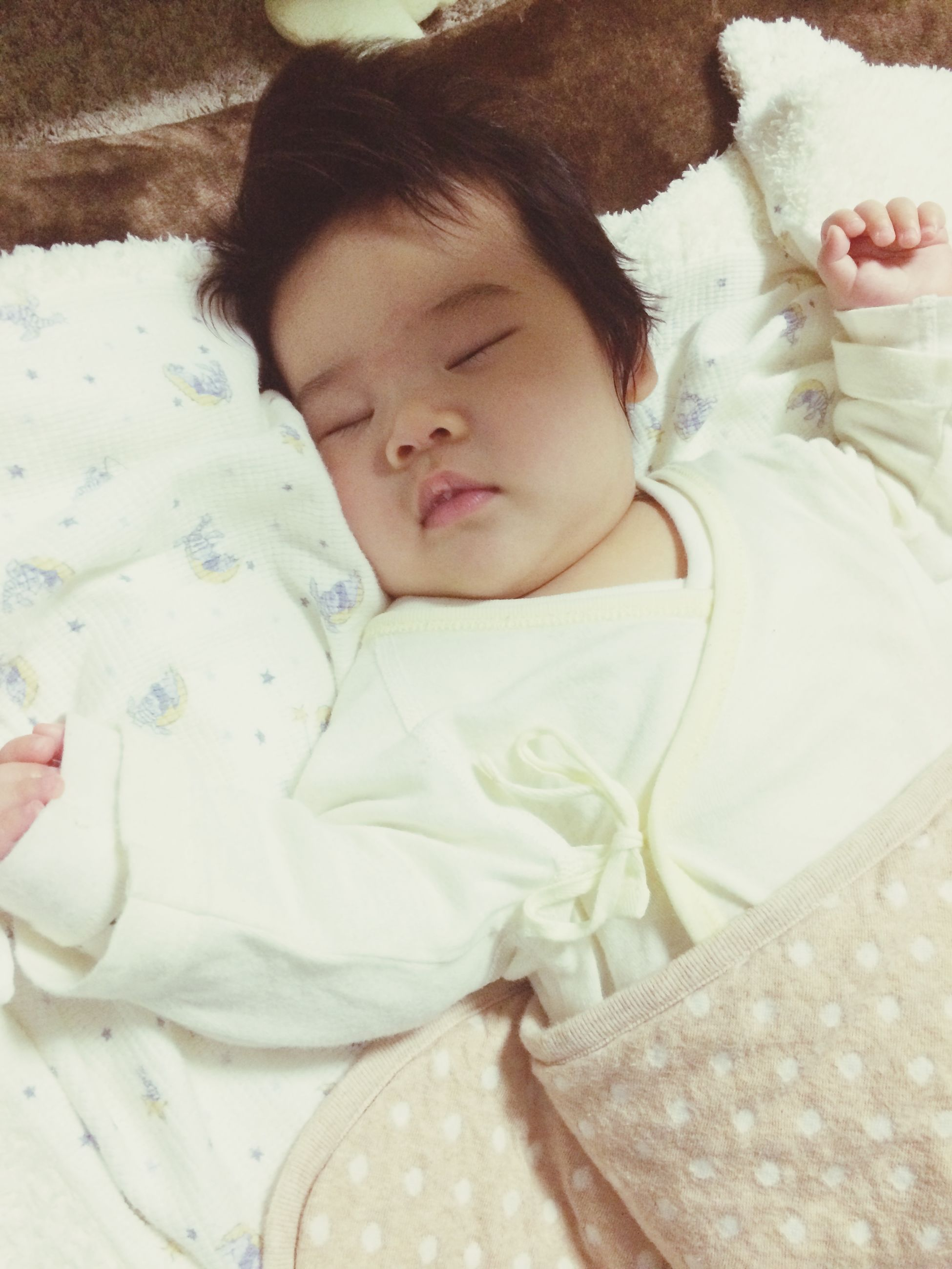 indoors, bed, relaxation, sleeping, cute, childhood, innocence, lying down, babyhood, baby, toddler, bedroom, person, resting, home interior, blanket, pillow, eyes closed