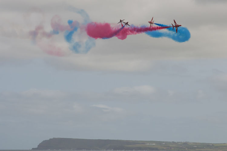 Aeroplane County Antrim Photographni Portrush Royal Air Force Display Team Smoke Trails The Red Arrows