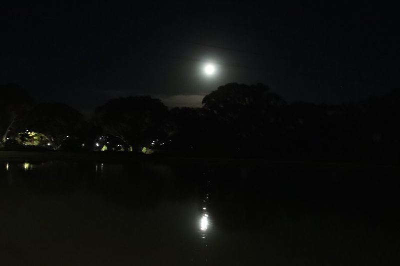Moon reflecting on lake Night Water Sky Moon Reflection Scenics - Nature Illuminated Nature Moonlight Waterfront Full Moon Dark Outdoors Lake Tranquil Scene EyeEmNewHere