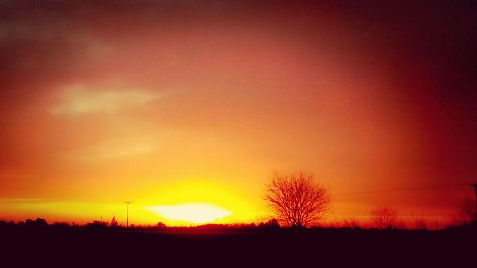 Salir a la ruta y encontrarse con este amanecer! Buena semana para todos! Sunrise EyeEm Best Shots - Sunsets + Sunrise