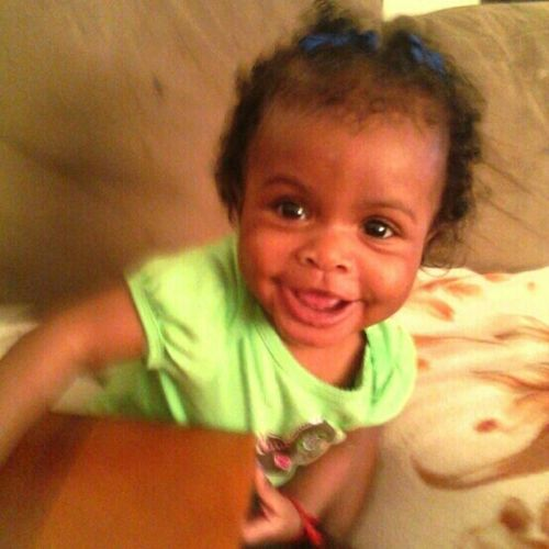 my baby girl growing up can belive she'll be one Friday time go so fast