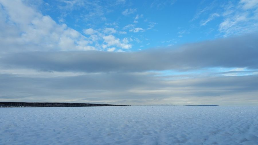 Nature Frozen Landscape Cold Temperature No People Outdoors Beauty In Nature Sky Day Cloud - Sky Ice Snow Field Blue Sky Winter Silent Moment One Moment In Time Idillic Premium Collection Kanton Thurgau Bodenseeregion Bodenseekreis Thurgau Breathing Space