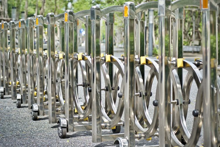 Bicycle Rack Close-up Day In A Row Large Group Of Objects Metal No People Outdoors
