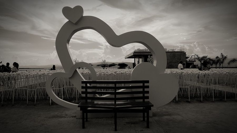 I love heart... Beach Sky No People Day Outdoors Water Black And White Photography Travel Destinations Adventure Philippines The Week On EyeEm Full Length Nature Heart Shape EyeEmNewHere