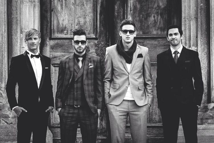 Portrait of handsome men in evening wear