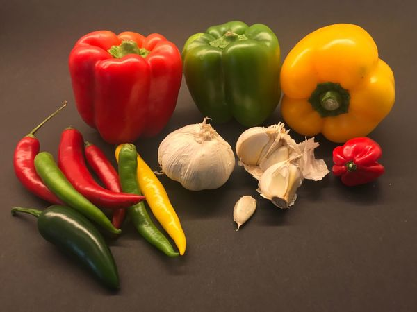 Bell Pepper Red Bell Pepper Vegetable Yellow Bell Pepper Still Life Food And Drink Food Green Bell Pepper Healthy Eating Variation Freshness Pepper - Vegetable High Angle View Raw Food No People Table Studio Shot Close-up Indoors  Red