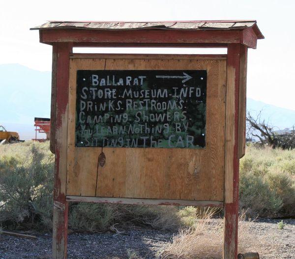 Ballarat Information Sign Ballarat  Ballarat Ghost Town Ballarat, Ca Close-up Communication Day Field Landscape Mountain Nature No People Outdoors Sky Text