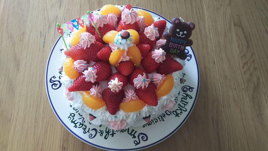 妻の誕生日ケーキを娘 が作ってくれました