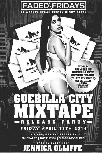 └▶ #FADED FRIDAYS @ MEDIA BAR / GUERRILLA CITY MIXTAPE RELEASE PARTY! FRIDAY APRIL 18th 2014 @ 77 Peter st Toronto ON Hiphop | Reggae | R&B! ?Ladies free on guest list! B4 11pm Everyone else $5 on guest list before 11:30pm ⭐️ for guest list booths and bottle service contact me Twitter: @420keyz Instagram: @420Keyz or @TdotPartyCity Facebook: KeyzLockz BBM: 73d3bccc 416 540-9901 #1 PARTY ON A FIRDAY NIGHT Come out & get #Faded PARTY CONTINUES EVERY FRIDAY! #IVXXMOBB #IVXXKEYZ DREAMTEAM ENT! #follow #followback #follow4follow #faded #media #club #fridays