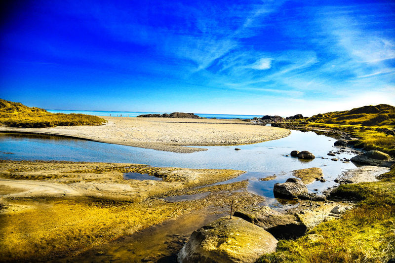 Water Sky Tranquility Tranquil Scene Scenics - Nature Beauty In Nature Blue Nature Land Rock Solid Day No People Sea Rock - Object Beach Cloud - Sky Non-urban Scene Environment Outdoors Salt Flat