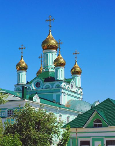 Holy Trinity Cathedral in Shchigry Religion Dome Architecture Travel Destinations Day History Outdoors Sky No People Building Exterior Tree City Kursk Shchigry