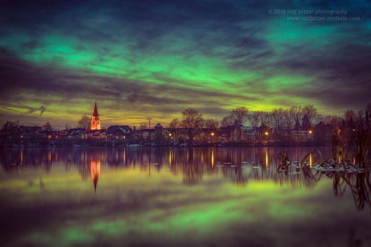 Kofenweiher, Nacht, Photoshop,Farben