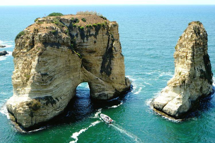 Sea Rock Boat Sightseeing LiveLoveLebanon Beirut Lebanon A Bird's Eye View