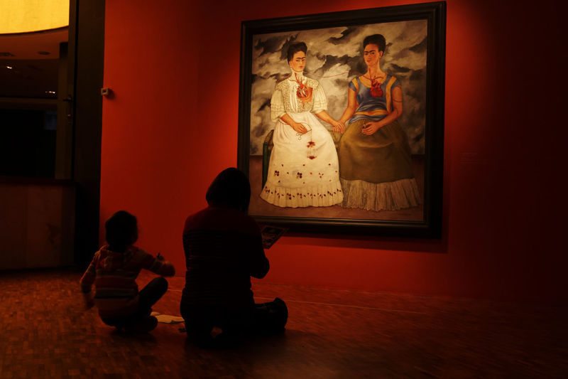 Frida Khalo Mexico City Arts Culture And Entertainment Childhood Day Indoors  Museum People Rear View