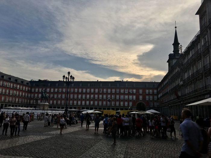 Plaza Mayor (Madrid). Plaza Plaza Mayor Architecture Built Structure Plazamayor Building Exterior Cloud - Sky Outdoors Architecture Street Photography Plaza Mayor.