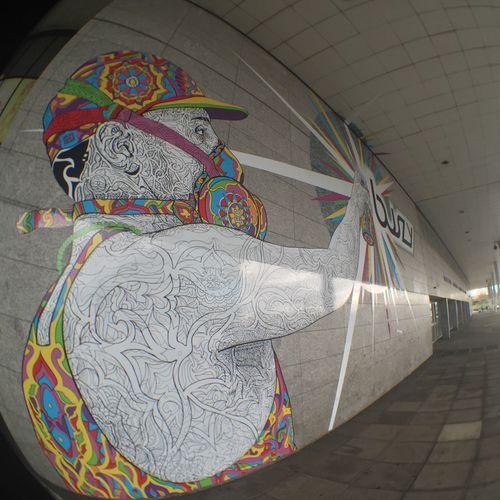 Taken on iPhone 6 with fish eye lens at Milton Keynes (UK) train station Train Station Graffiti Graffiti Art Graffitiporn Milton Keynes Miltonkeynes Art ArtWork