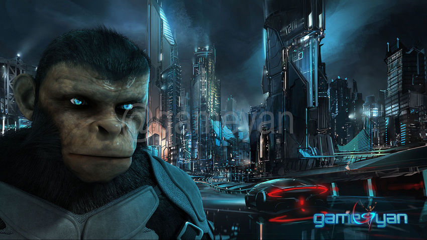 """Cinematic 3D Character of Kung Fu Ape – sci-fi Cartoon feature film - Atlanta, USA This 3D Character Model of Ape is developed for Cinematic Teaser of feature film called """"Kung Fu Ape"""". First of all we developed concept 2d Art drawings of Ape and based on that we have develop realistic, semi realistic and cartoonist Ape 3D Character. GameYan Studio – art outsourcing studio for feature films and could work as production house to do entire 3d development for any animated movie, Our professional team of artists can develop variety of 3D art content for movie and video games along with low optimized characters for mobile and virtual reality interactive games. Project: Kung Fu Ape Client: Fred Category: Movie Cinematic Trailer Country: Atlanta, USA Rade More : http://www.gameyan.com/game-art-outsourcing.html 3D Animation Studio Animation Character Modeling Development Film Game Design Motion Capture MOVIE Production"""