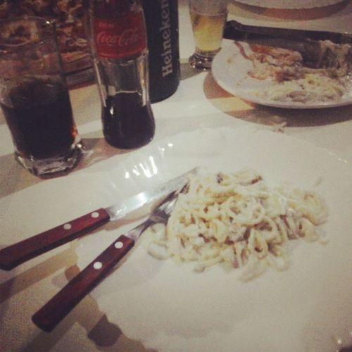 Tá servido ?! EspagueteAcarbonara Espaguete Macarrao Comida food Braza restaurante bar anapolis go night