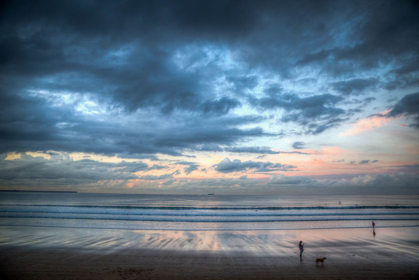 Beach Sunset Water Reflection Sea Nature Dramatic Sky Landscape Outdoors Cloud - Sky Beauty In Nature Tranquility Sky Horizon Over Water Beauty SPAIN Asturias Tamron 6D Blue Canon Day España Tranquility Naturaleza