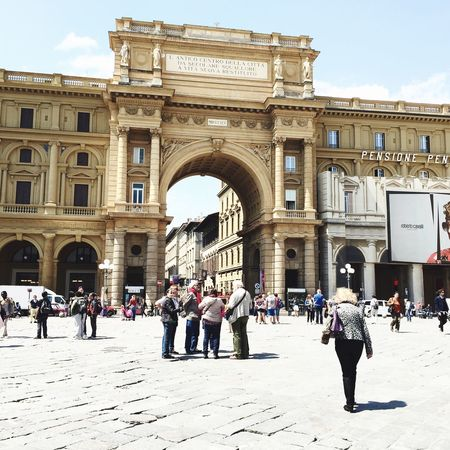 Piazza Della Repubblica Tourism In Florence Relaxing Enjoying My Holidays The Place I'm Now Hello World Sunny Day Lovely Place Beautiful Day Check It Out