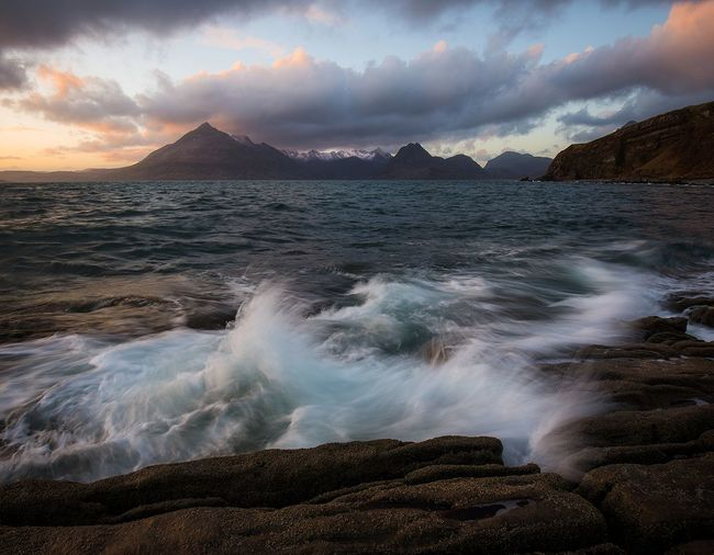 Elgol, Isle of Skye Skye Sunset Landscape Water Scotland Cloud - Sky Nikonphotography Landscape_photography Mountains And Valleys Isle Of Skye Sky