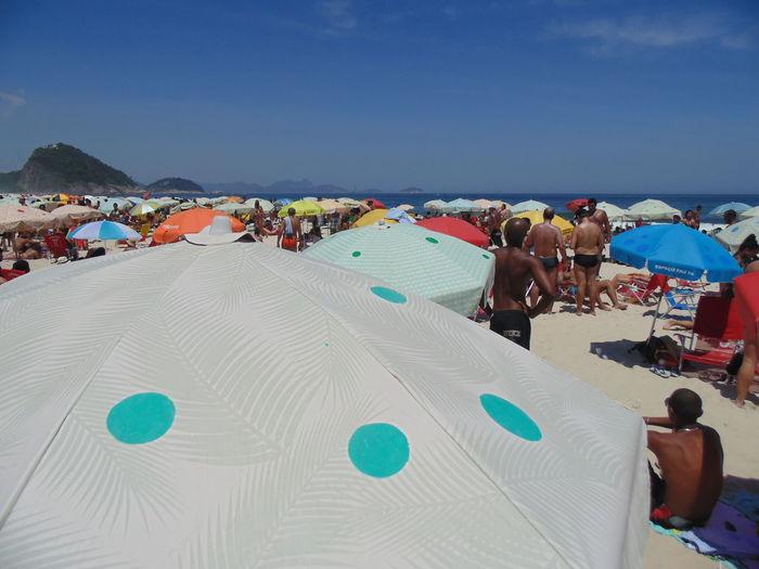 Beach Day People Rio De Janeiro Sand Sea Sky Vacations