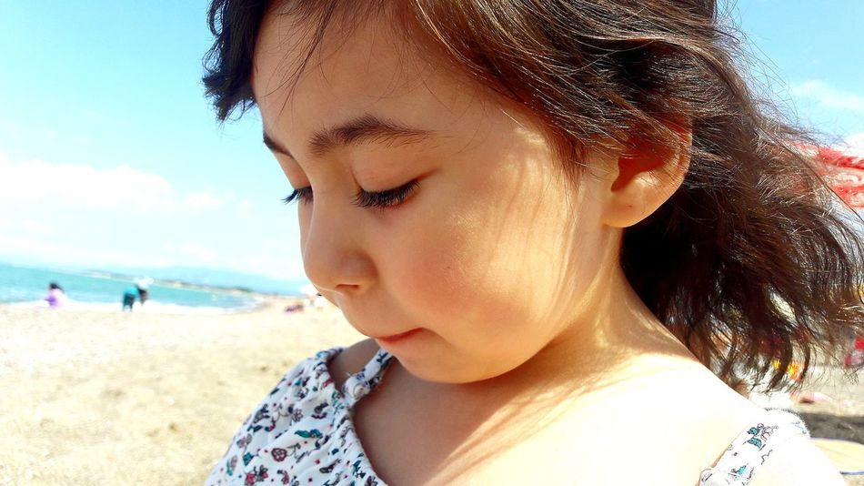 EyeEm Selects Beach Headshot Sand Sea One Person Day Sky Only Women One Woman Only Summer One Young Woman Only First Eyeem Photo People Outdoors Portrait Travel Adults Only Close-up Vacations Nature Girls Karasu Flower Love