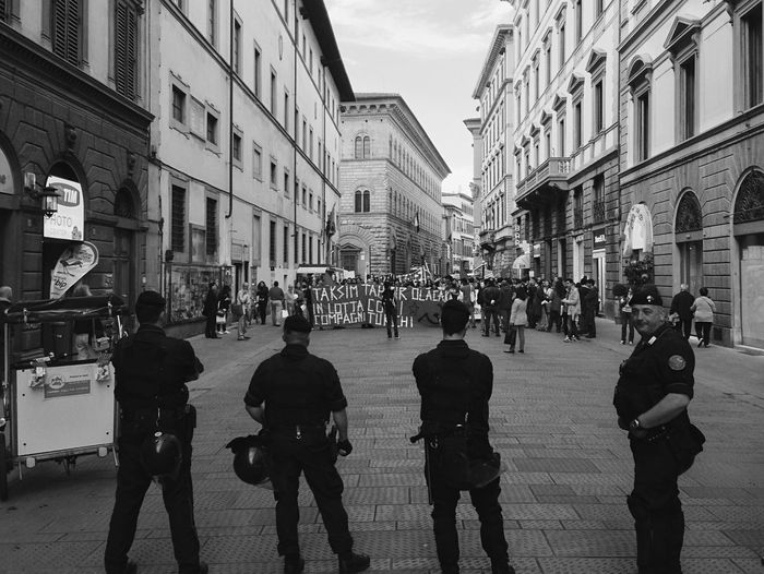 Protest - Firenze | 2013 Monochrome Blackandwhite Streetphotography Florence Protest People B&w Photojournalism
