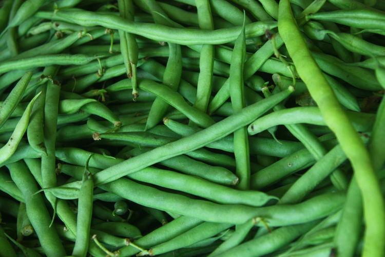 Full frame shot of green vegetables