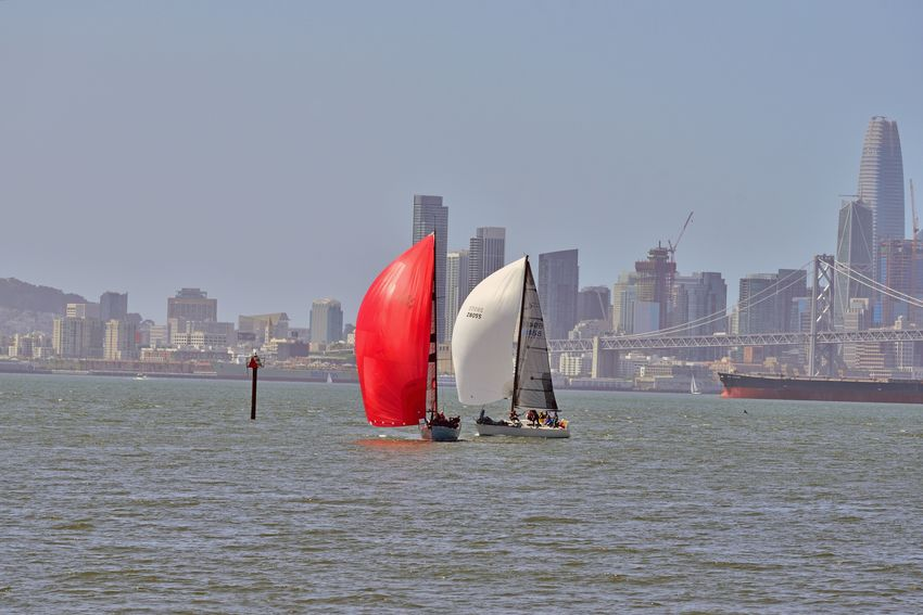 Sailing Middle Harbor 11 Port Of Oakland,Ca. Middle Harbor The Color Of Sport Sailing Sailboats Racing Tacking San Francisco Bay Bay Bridge Channel Marker Cityscape San Francisco Skyline Skyscrapers Waterfront♥ Freighter Sports Photography A Day On The Bay People On Board Teamwork Enjoying Life Riding The Winds City Urban Skyline Water Modern Downtown District Sky Architecture Financial District  Office Building