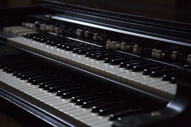 Close-Up Of Electric Organ