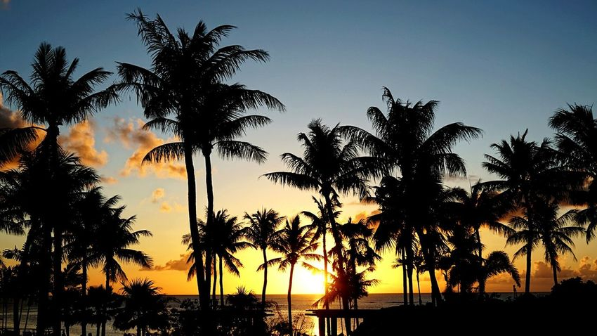 getting dark Guam Summer2016 Beach Great Atmosphere Guamsunset Sunset Waiting For Sunset