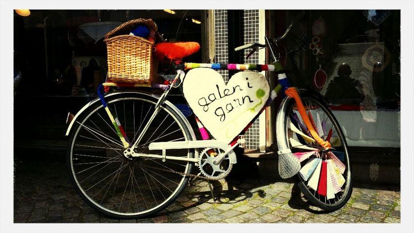 The yarn bike! Bike Knitting Hello