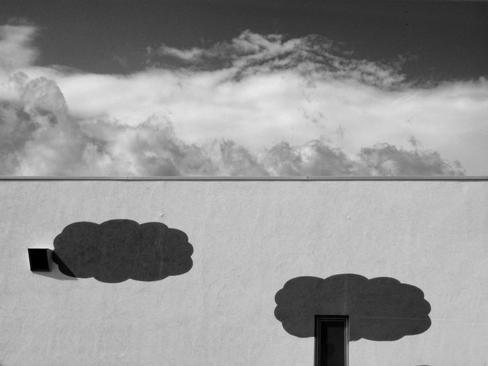 Silent town Abstract Architecture_bw Black And White Photography Building Exterior Architecture Built Structure Architecture Exterior Cityscape Photography Cloud - Sky Day Mood Outdoors Silence Sky Urban