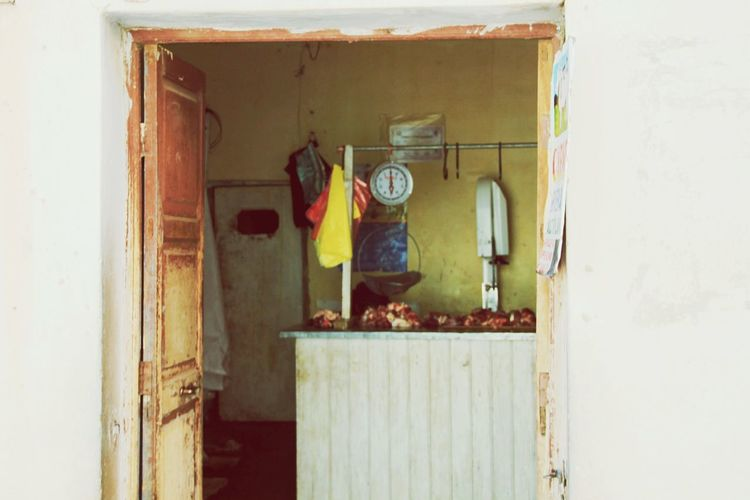 Butcher Meat Shop Bolivia Tiwanaku Hygiene Empty Shop Shop Meat Raw Food Raw Meat