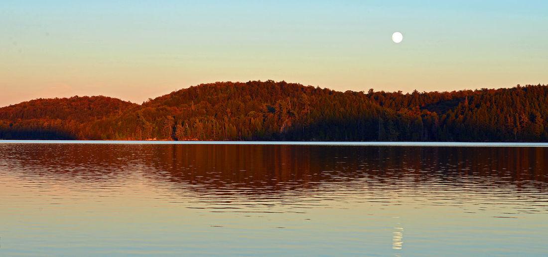 Moon rising in
