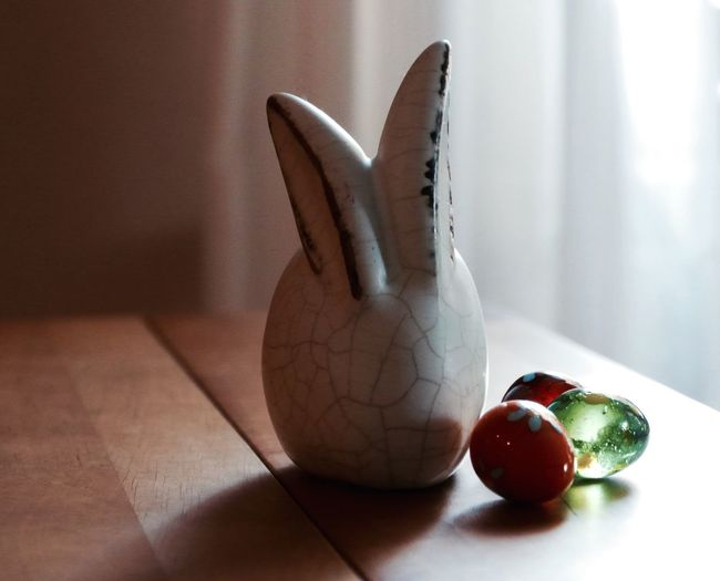 Close-Up Of Easter Decoration On Table