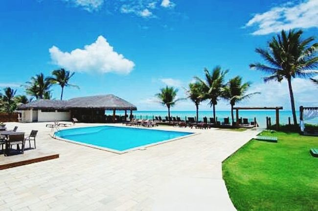 Hotelcahy PradoBahiaBrasil Prado Bahia Palm Tree Swimming Pool Tourist Resort Tropical Climate Vacations LuxuryBlue Water Hotel Luxury Hotel Beach Photography Sky Travel Destinations Tranquil Scene Sea Relaxation Day Beach