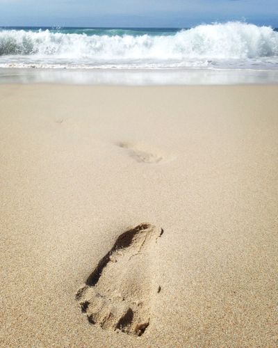 sea yaa! Sand Beach Shore Nature Sea Sky FootPrint first eyeem photo EyeEmNewHere