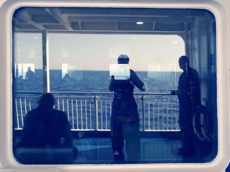 Travel Window Silhouette Itsme Its Me! Frameit We Are Photography, We Are EyeEm Sea Reflection Water Ferry Views Ferry Ride Ferry Trip Windowreflection Windowreflections