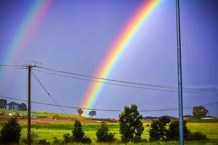 Rainbow Double Rainbow Multi Colored Beauty In Nature No People Nature Sky Connection Scenics Outdoors Landscape