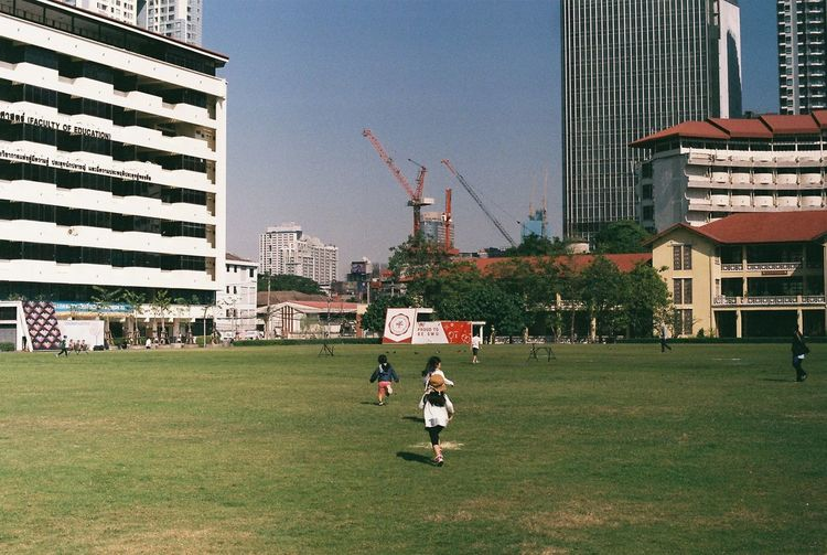 Film FujicolorC200 Child City Day Field Film Photography Fujicolor Grass Leisure Activity Outdoors People Playing Real People